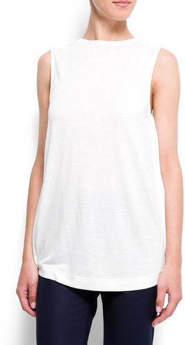 Chiffon back t-shirt