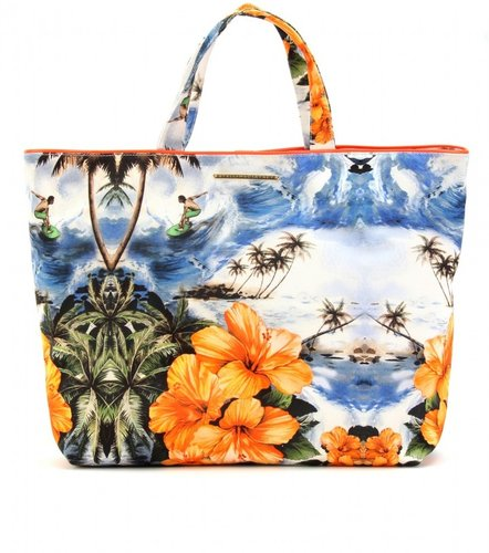 Stella McCartney VANESSA HAWAIIAN PRINT CANVAS BEACH BAG