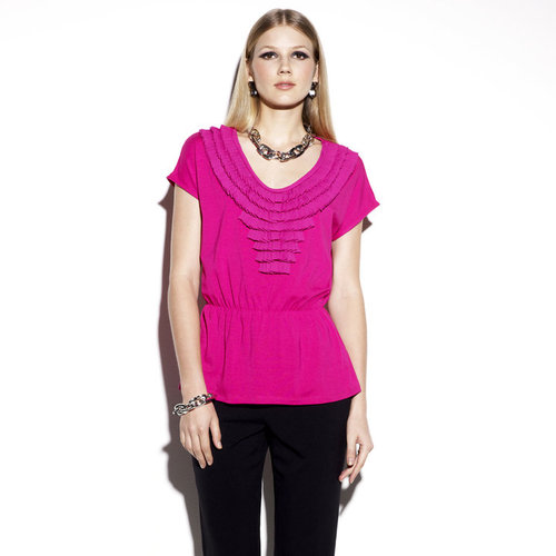 Smocked Waist Top Fushia
