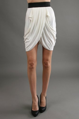 Miha Draped Wrap Skirt in Milk