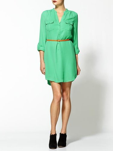 Boundary &amp; Co. Mint Belted Shirt Dress
