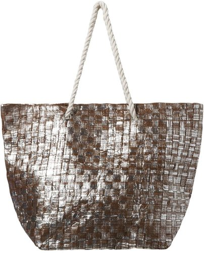 Jane Norman Straw weave shopper