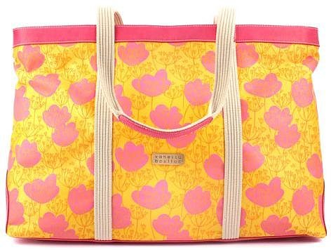 Vanessa Boulton Original Handbags WIND FLOWERS LARGE PRINTED UTILITY BAG PINK from Boticca