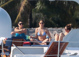 Jennifer Lopez wore a lilac bikini when she holidayed on a yacht in Miami in Jan. 2013.
