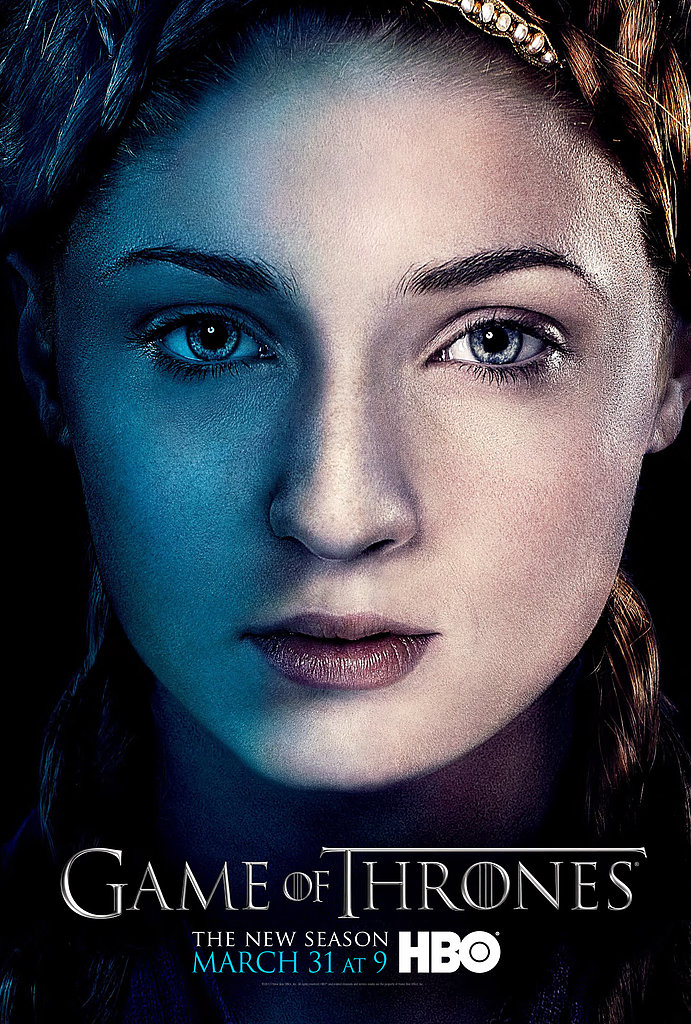 Sansa Stark Game of Thrones season three poster.