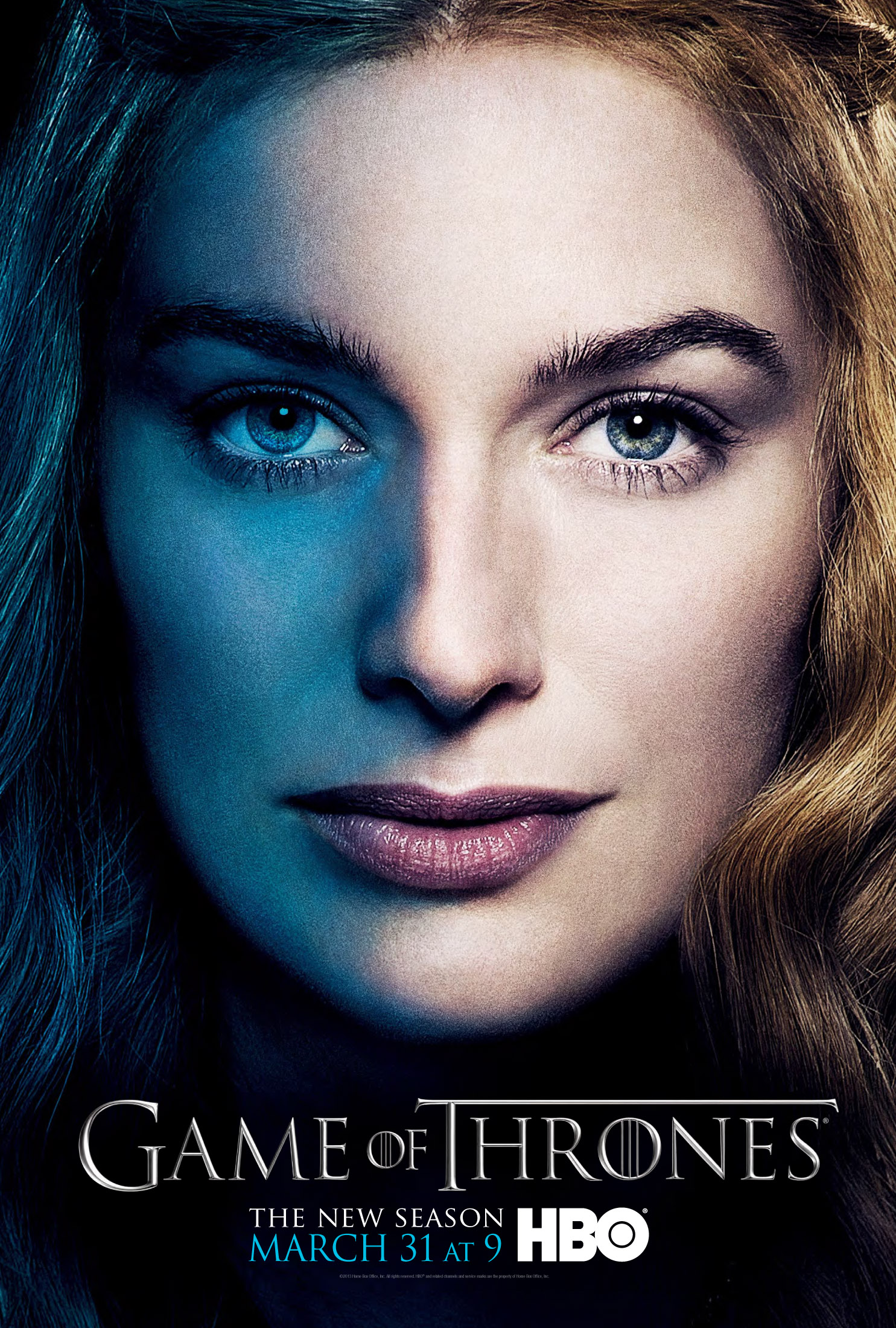 Cersei Lannister Game of Thrones season three poster.