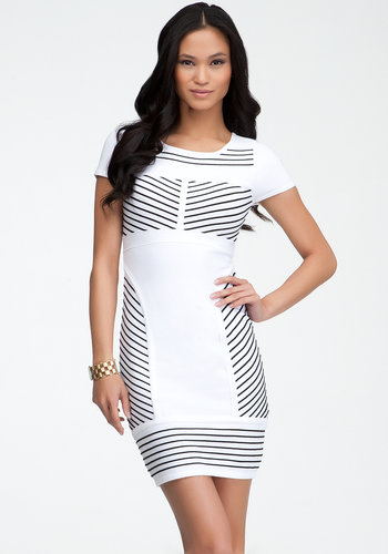 Ottoman Colorblock Bodycon Dress