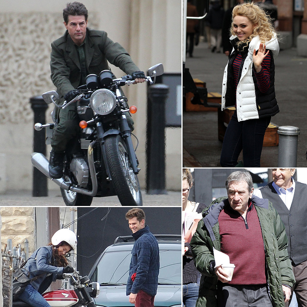 Tom Cruise, Robert De Niro, Andrew Garfield, and More Stars on Set