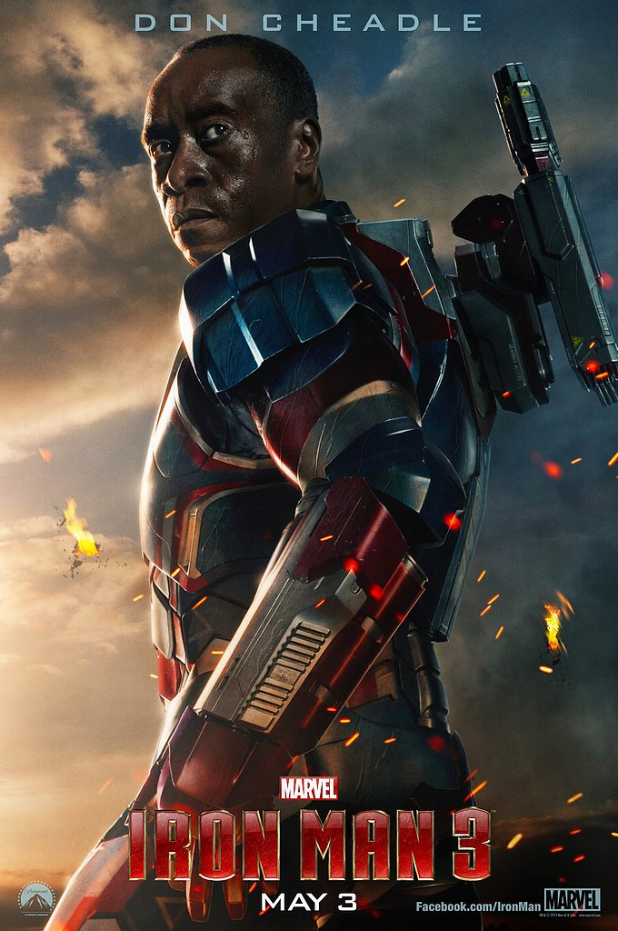 Don Cheadle stars as James Rhodes, aka War Machine.
