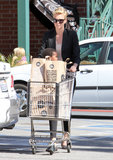 Charlize Theron pushed Jackson in her shopping cart after a stop at Whole Foods in LA.