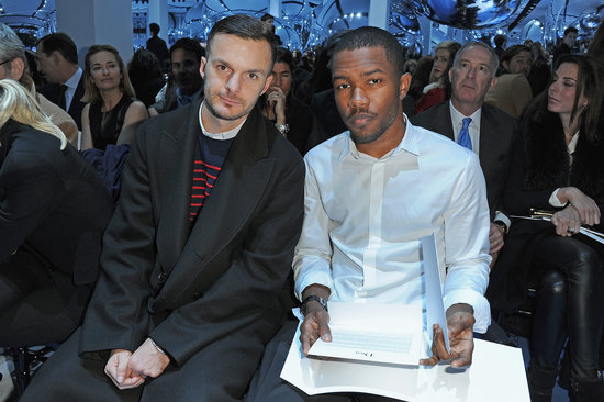Frank Ocean sat front row at the Christian Dior show on Friday in Paris.