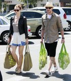 Jessica Biel and Justin Timberlake went grocery shopping in LA in July 2010.