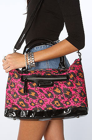 Betsey Johnson The Cheetah Boom Boom Satchel Bag