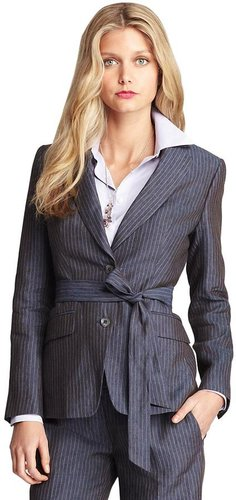Linen Pinstripe Jacket