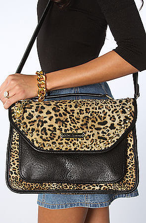 Betsey Johnson The Cheetah Mix Up Top Handle Bag