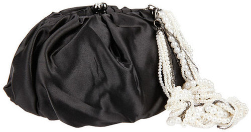 Betsey Johnson Handbags Pearl Chain: Shoulder bag, Black 1 ea