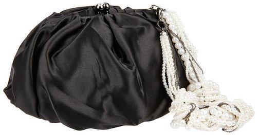 Betsey Johnson Handbags Pearl Chain: Shoulder bag, Black 1 ea
