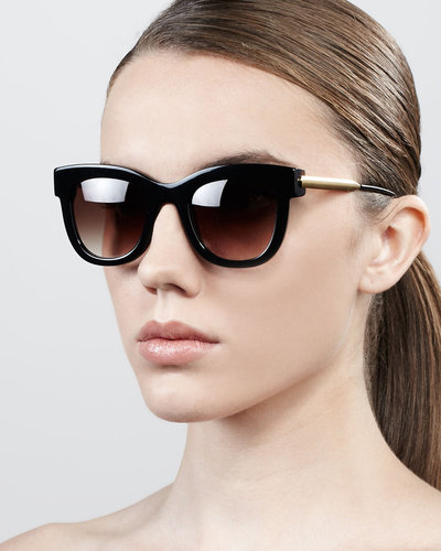 Thierry Lasry Sexxxy Golden-Temple Sunglasses, Navy