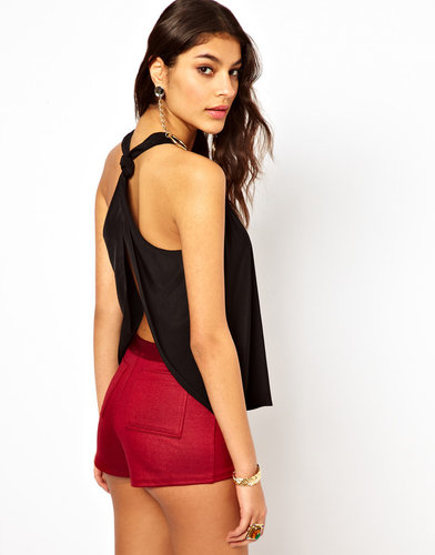 ASOS Tank With Open Back And Knot Detail