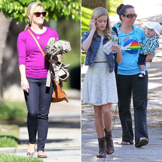 Reese Witherspoon Attends a Family Party With Baby Tennessee