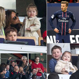 Victoria and the Kids Cheer on David and Paris Saint-Germain