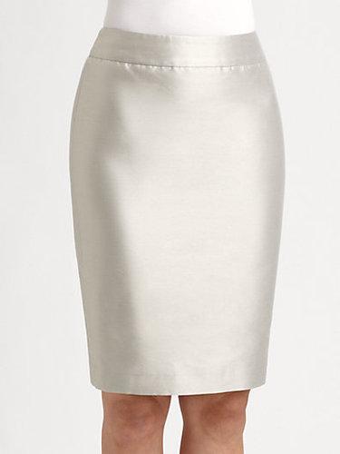 Armani Collezioni Taffeta Pencil Skirt