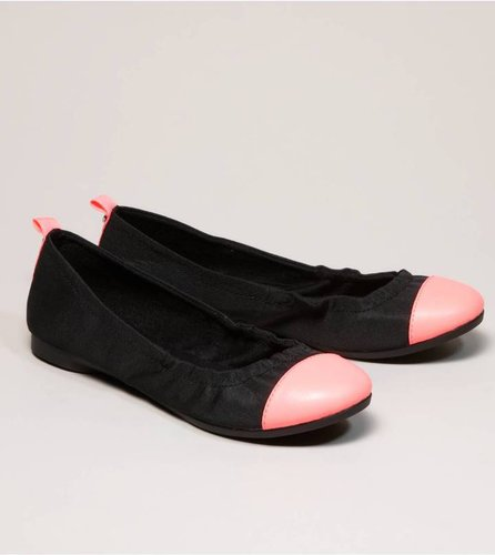 AEO Neon Cap-Toe Ballet Flat