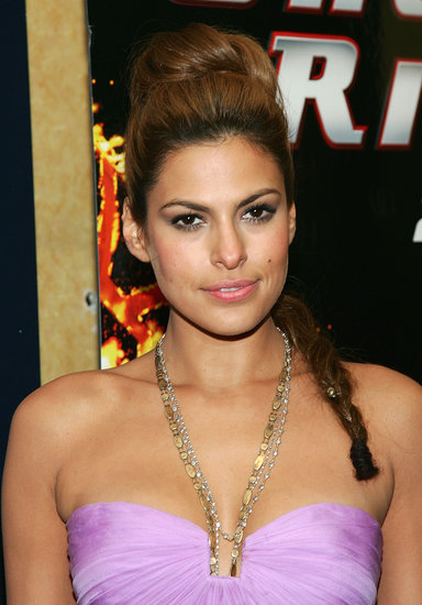Perhaps there was only a little bauble involved (at the bottom of Eva's plait), but this bun and braid combination from the 2007 Ghost Rider premiere was one look to remember.