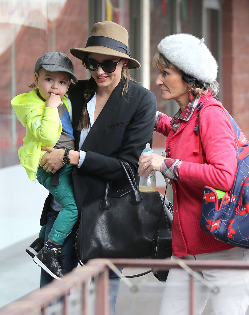 Miranda Kerr took Flynn to a children's gym.