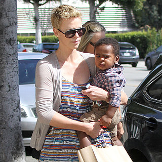 Charlize Theron Taking Jackson to Get a Haircut | Pictures