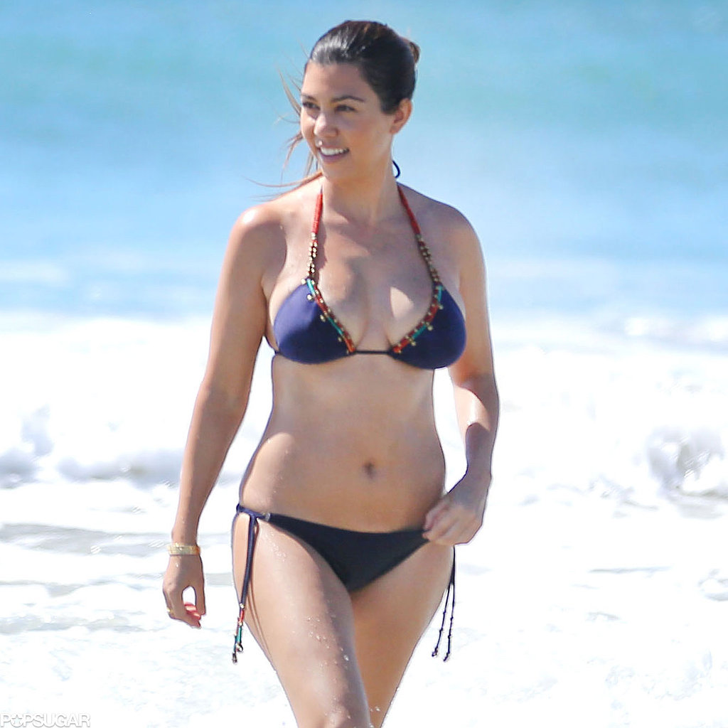 Kourtney Kardashian Shows Her Bikini Body in Skimpy Suits During a Family Getaway