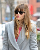 Jessica Biel sported shades in NYC.