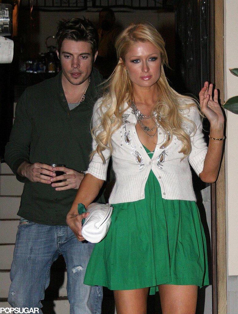 Paris Hilton left a nightclub in LA with Josh Henderson back in March 2007.