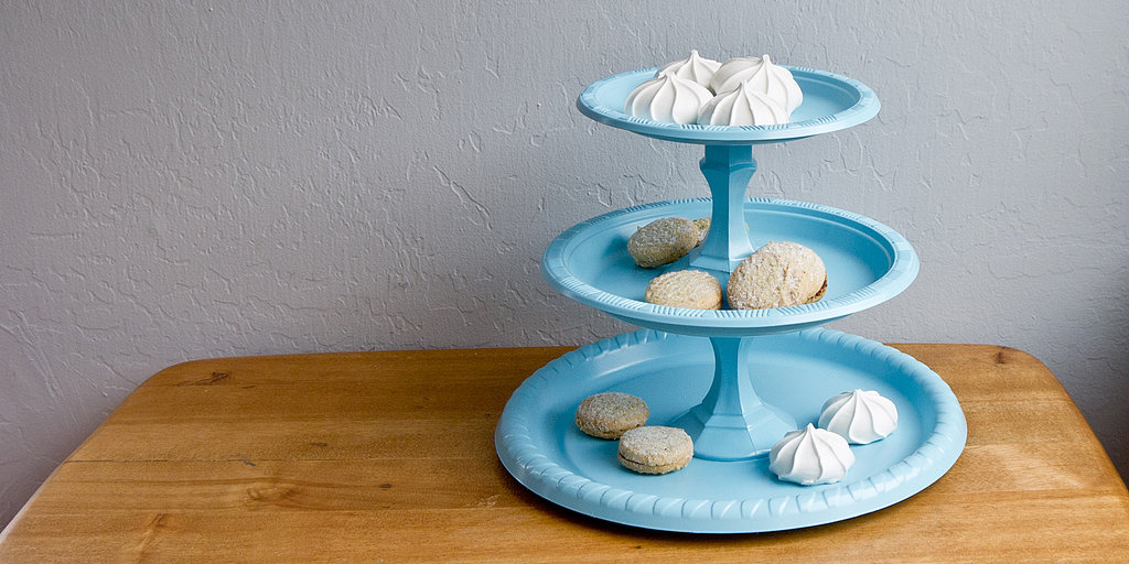 Savvy Chic: Dollar-Store Tiered Tray