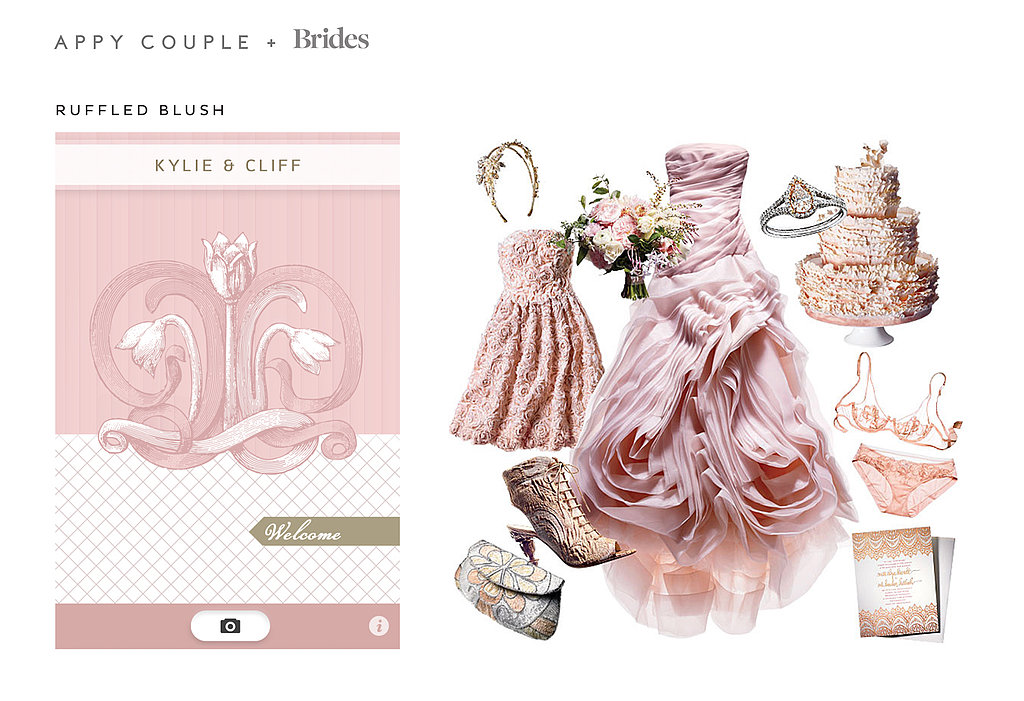 For the super-romantic, fairy-tale wedding, choose Ruffled Blush ($28), a theme fit for a princess bride.  Source: Appy Couple