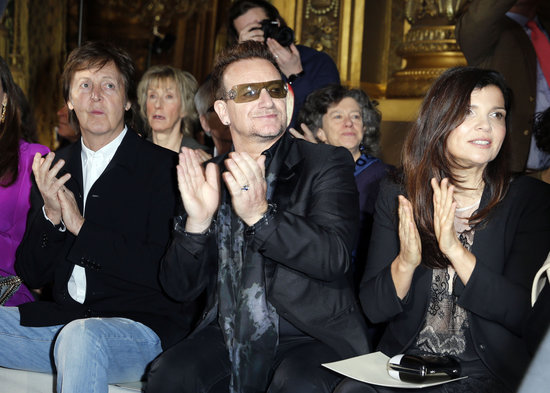 Ali Hewson, Bono and Sir Paul McCartney