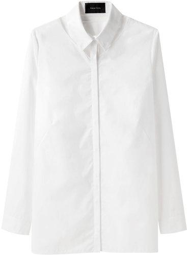 Simone Rocha  / Cotton Shirt with Tulle Detail
