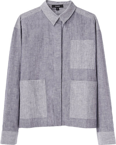 Suno / Chambray Patch Pocket Shirt