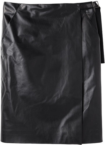 Proenza Schouler / Leather Wrap Skirt