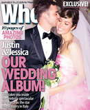 A sweet snapshot of JT and Jess' Italian wedding. Photo courtesy of Who Magazine