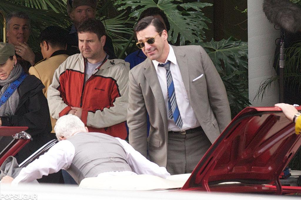 Jon Hamm filmed scenes with John Slattery.