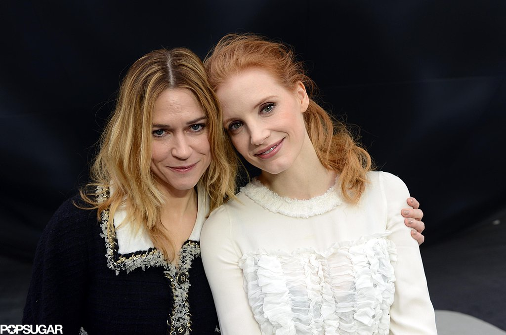 Jessica Chastain and Marie-Josée Croze sat next to each other in the front row.