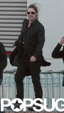 Brad Pitt wore a black outfit.