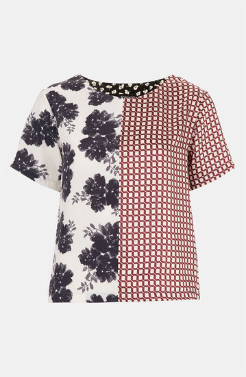Get two of the season's best prints on one great little t-shirt, thanks to this Topshop Half & Half Mix Print Tee ($64).