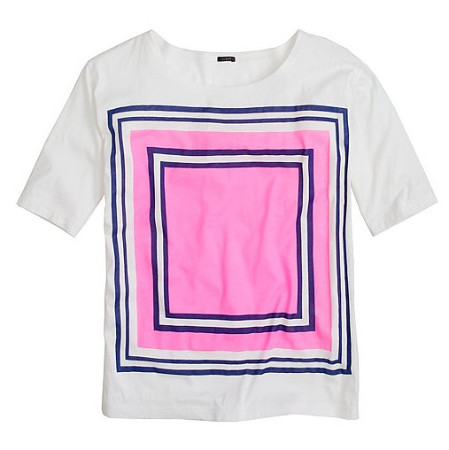 This bright graphic J.Crew Double-Square Tee ($50) could quite quickly replace our worn-in white tee as a closet favorite.