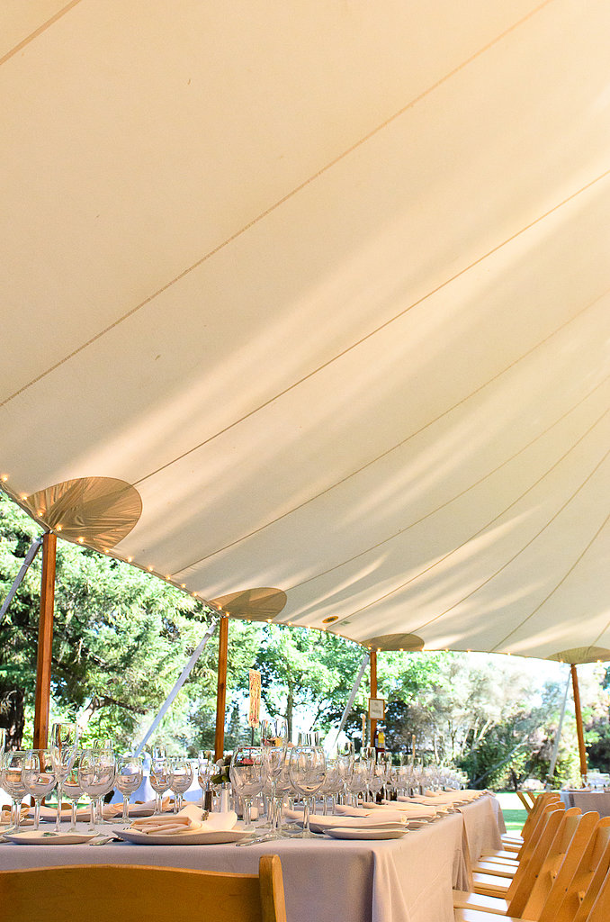 The tent set the scene for a whimsical reception.  Source: Juliette Tinnus