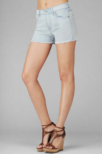 High Waist Cut Off Short In Cool Blue