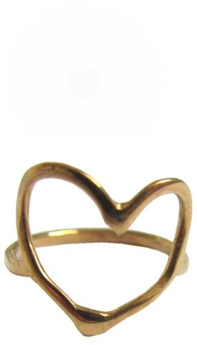 Christie Martin Jewelry Open Heart Ring in Gold