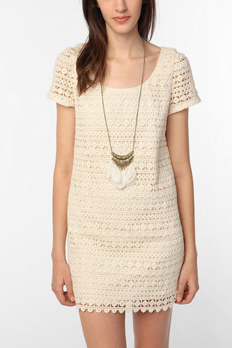 Staring at Stars Crochet Mini Dress