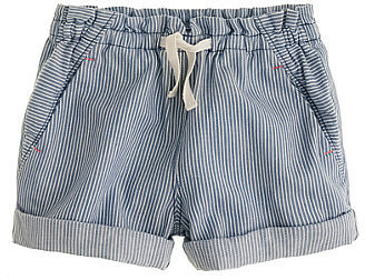 Girls&#039; drawstring short in engineer stripe